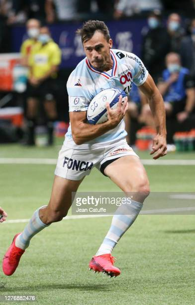 Juan Imhoff of Racing 92 during the Heineken Champions Cup Semi Final match between Racing 92 and Saracens at Paris La Defense Arena on September 26...