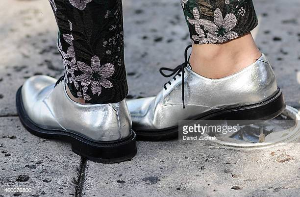 Juan is seen outside the Pinta show wearing YSL shoes on December 6 2014 in Miami Beach Florida