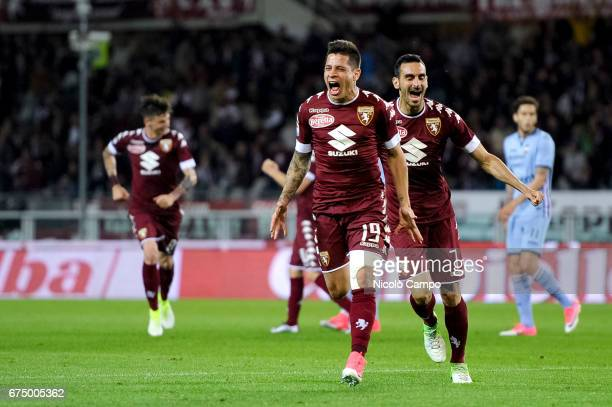 Juan Iturbe of Torino FC celebrates after scoring a goal during the Serie A football match between Torino FC and UC Sampdoria Final result is 11
