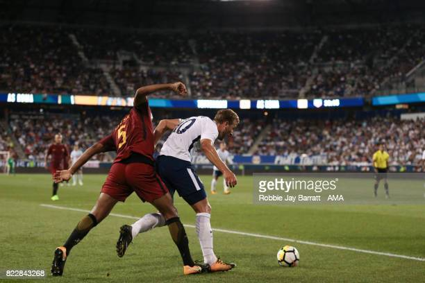 Juan Jesus of AS Roma and Harry Kane of Tottenham Hotspur during the International Champions Cup 2017 match between Tottenham Hotspur and AS Roma at...