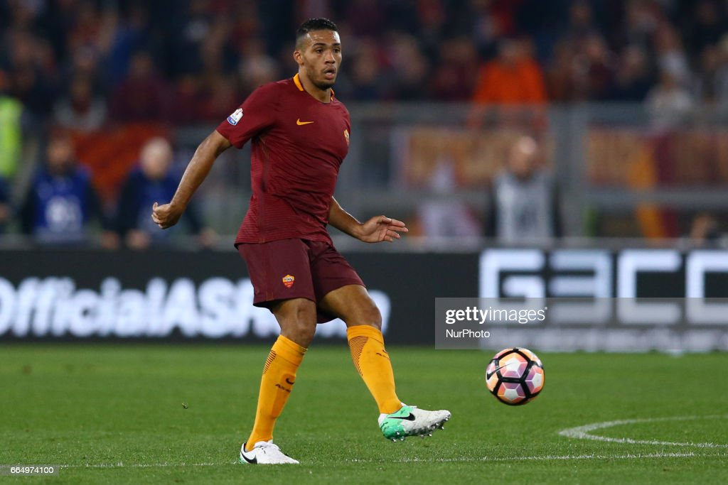 Juan Jesus of Roma during the TIM Cup match between AS Roma and SS Lazio at Stadio Olimpico on April 4, 2017 in Rome, Italy.