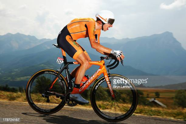 Juan José Oroz of Euskatel-Euskadi and Spain rides during stage seventeen of the 2013 Tour de France, a 32KM Individual Time Trial from Embrun to...