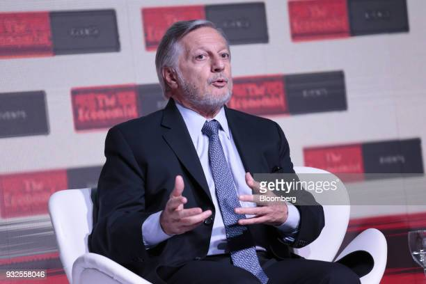 Juan Jose Aranguren Argentina's energy and mining minister speaks during the Argentina Summit in Buenos Aires Argentina on Thursday March 15 2018 The...