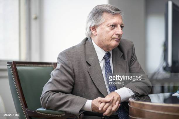 Juan Jose Aranguren Argentina's minister of energy and mining pauses during an interview in Buenos Aires Argentina on Thursday March 9 2017 Argentina...