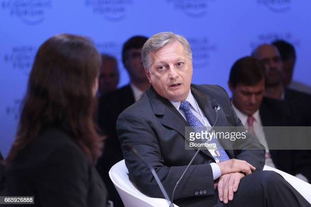 Juan Jose Aranguren Argentina's minister of energy and mining speaks during the World Economic Forum on Latin America in Buenos Aires Argentina on...