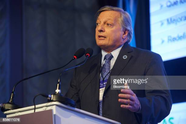 Juan Jose Aranguren Argentina'senergy and mining minister speaks during the Americas Society and Council of the America annual conference in Buenos...