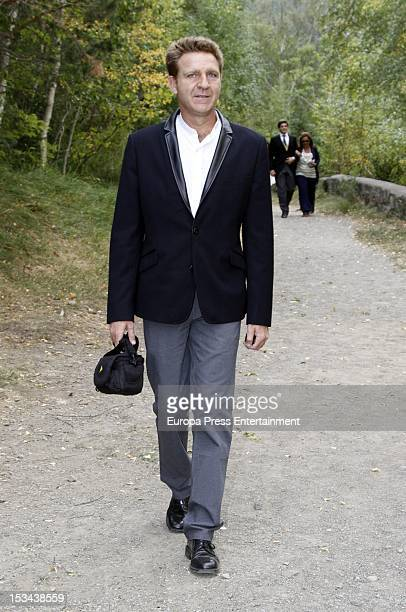 Juan Jose Artero attends the wedding of Juan Pablo Shuk and Ana De La Lastra on September 22 2012 in Biescas Spain