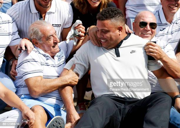 Juan Jose Hidalgo and Ronaldo Nazario attend the charity Golf Tournament organised by Clinica Menorca Foundation on September 21 2017 in Madrid Spain