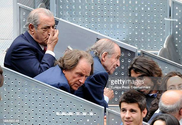 Juan Jose Hidalgo Jose Maria Garcia and Javier Hidalgo attend the Mutua Madrid Open tennis tournament at La Caja Magica on May 8 2013 in Madrid Spain