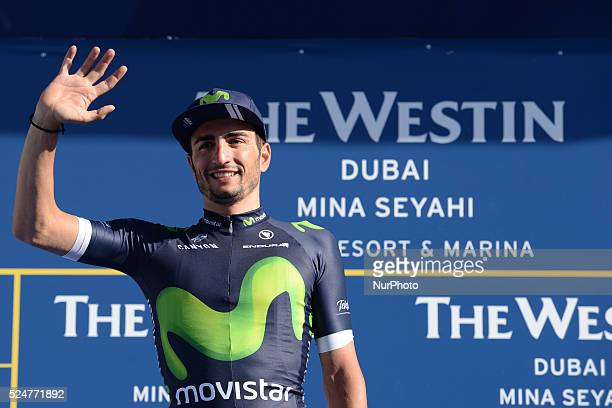 Juan Jose Labato Del Valle a rider from Movistar wins the third stage of the 2016 Tour of Dubai the 172km The Westin Stage from DIMC to Hatta Dam The...