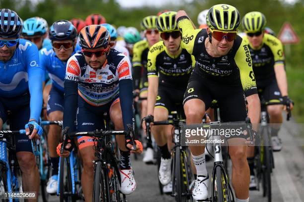 Juan Jose Lobato of Spain and Team Nippo Vini Fantini - Faizane / Mikel Nieve of Spain and Team Mitchelton - Scott / Jack Bauer of New Zealand and...