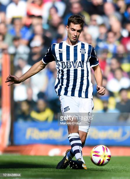 Juan Komar of Talleres kicks the ball during a match between Boca Juniors and Talleres as part of Superliga Argentina 2018/19 at Estadio Alberto J...