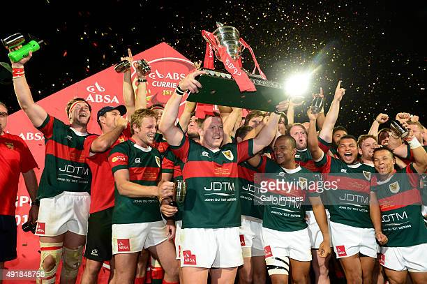 Juan Language of the Leopards celebrate after winning the Absa Currie Cup Division 1 final match between Leopards and SWD Eagles at Profert Olen Park...