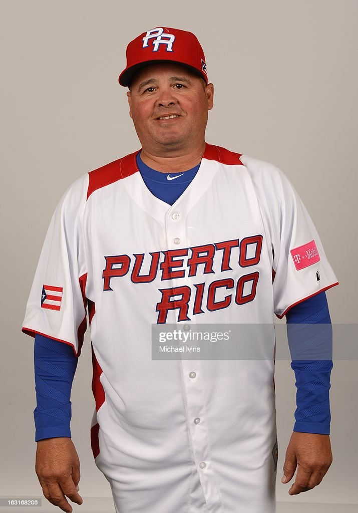 Juan Lopez of Team Puerto Rico poses for a headshot for the 2013 World Baseball Classic at the City of Palms Baseball Complex on Monday, March 4, 2013 in Fort Myers, Florida.