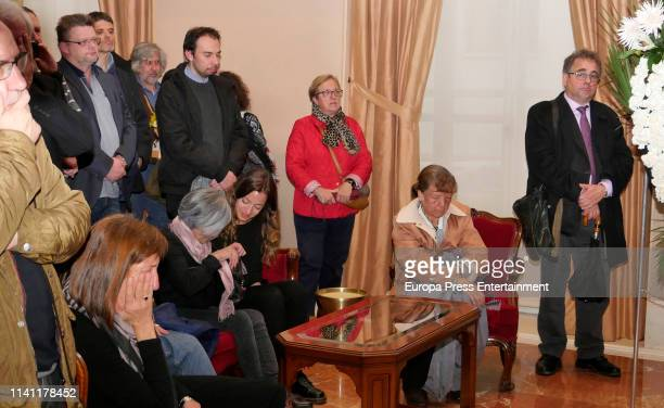 Juan Luis Cano attends a funeral chapel for Alberto Cortez on April 05 2019 in Madrid Spain