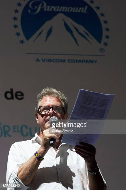Juan Luis Cano attends 'An Inconvenient Sequel Truth to Power' premiere at the Callao cinema on October 3 2017 in Madrid Spain