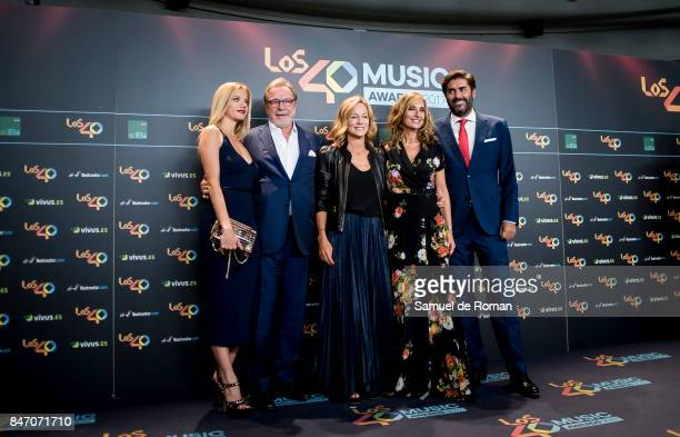 Juan Luis Cebrian attends 40 Principales Awards candidates dinner 2017 on September 14 2017 in Madrid Spain