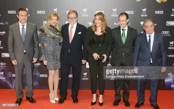 Juan Luis Cebrian Michaela Mihalcia and Susana Diaz attend the 63th Ondas Gala Awards 2016 at the FIBES on December 12 2017 in Seville Spain