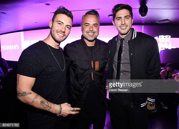 Juan Magan and guests attend the after party for the 17th annual Latin Grammy Awards at Hakkasan Las Vegas Restaurant and Nightclub on November 17...