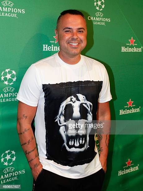 Juan Magan arrives at Silver Street Studios as Heineken Brings The Experience Of The UEFA Champions League Final To Houston With Epic Viewing Party...