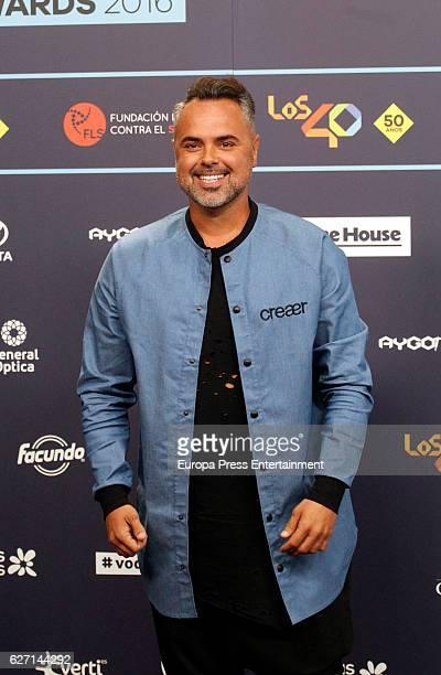 Juan Magan attends the gala of Los 40 Music Awards 2016 on December 1 2016 in Barcelona Spain