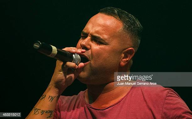 Juan Magan performs at Palacio Deportes on August 7 2014 in Santander Spain