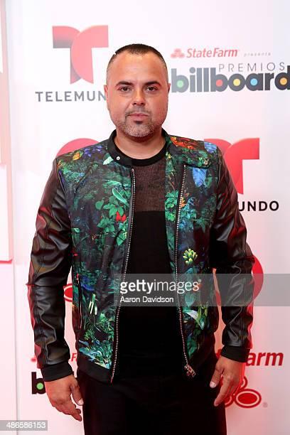 Juan Magan poses backstage at the 2014 Billboard Latin Music Awards at Bank United Center on April 24 2014 in Miami Florida