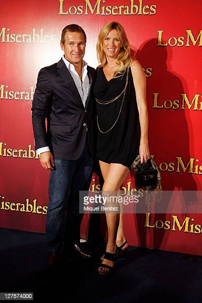 Juan Manuel Alcaraz and Alejandra Prat attend the premiere of 'Los Miserables' at the Barcelona Teatre Municipal on September 29 2011 in Barcelona...