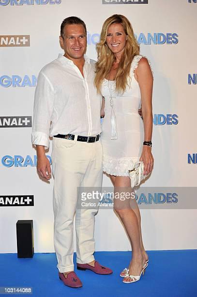 Juan Manuel Alcaraz and wife Alejandra Prat attend the Spanish Premiere of Grown Ups at Maricel Hotel on July 28 2010 in Palma de Mallorca Spain