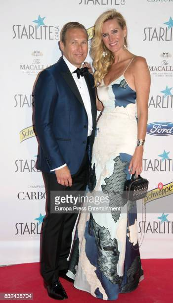 Juan Manuel Alcarez and Alejandra Prat attend Starlite Gala on August 13 2017 in Marbella Spain