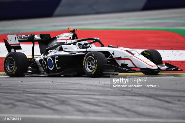 Juan Manuel Correa of United States and ART Grand Prix drives during Day Two of Formula 3 Testing at Red Bull Ring on April 04, 2021 in Spielberg,...