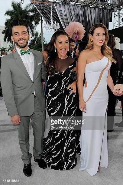 "Juan Manuel Cortes, Carolina Sandoval and Erika De La Vega attend the 2015 Billboard Latin Music Awards ""Premios Billboard"" at BankUnited Center on..."