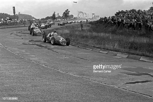 Juan Manuel Fangio, Alberto Ascari, Maserati A6GCM, Ferrari 500, Grand Prix of Germany, Nurburgring, 02 August 1953.