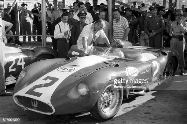Juan Manuel Fangio, Aurelio Bertocchi, Maserati 300S, Grand Prix of Cuba, La Havana, 23 February 1958.