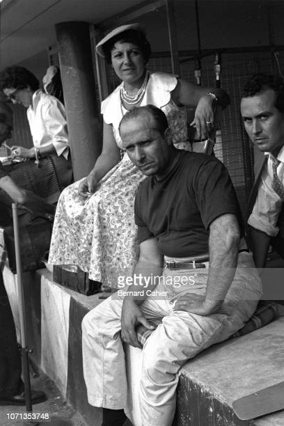Juan Manuel Fangio, Beba Berruet, Mercedes W196, Grand Prix of Italy, Autodromo Nazionale Monza, 11 September 1955. Juan Manuel Fangio in the pits...