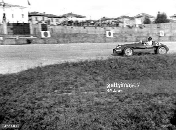 Juan Manuel Fangio driving a maserati A6GCM at the Modena Grand Prix 1953