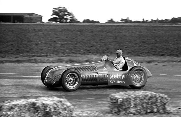 Juan Manuel Fangio driving an Alfa Romeo 158 Alfetta in the International Trophy at Silverstone England 1950