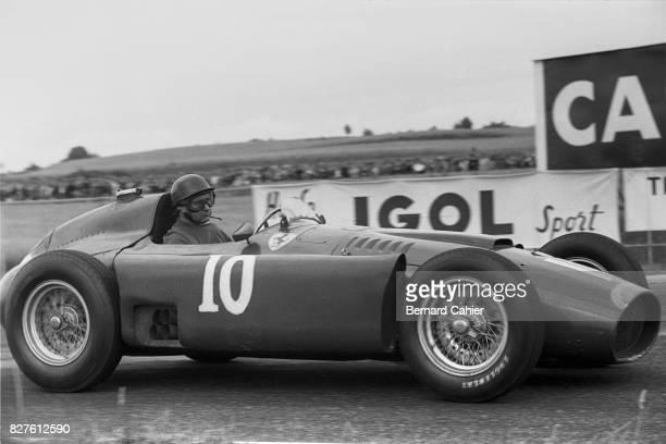 Juan Manuel Fangio, Ferrari D50, Grand Prix of France, Reims, 01 July 1956.