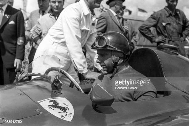 Juan Manuel Fangio, Ferrari D50, Grand Prix of Germany, Nurburgring, 05 August 1956. Juan Manuel Fangio at the wheel of his Ferrari D50 during...