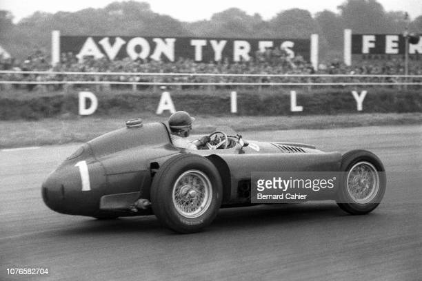 Juan Manuel Fangio Ferrari D50 Grand Prix of Great Britain Silverstone Circuit 14 July 1956 Juan Manuel Fangio on the way to victory in the 1956...
