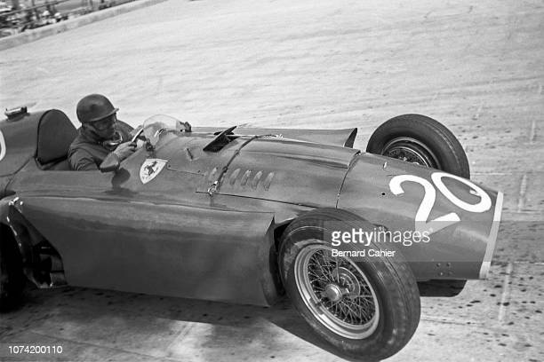 Juan Manuel Fangio, Ferrari D50, Grand Prix of Monaco, Circuit de Monaco, 13 May 1956. Juan Manuel Fangio on the way to second place in the 1956...