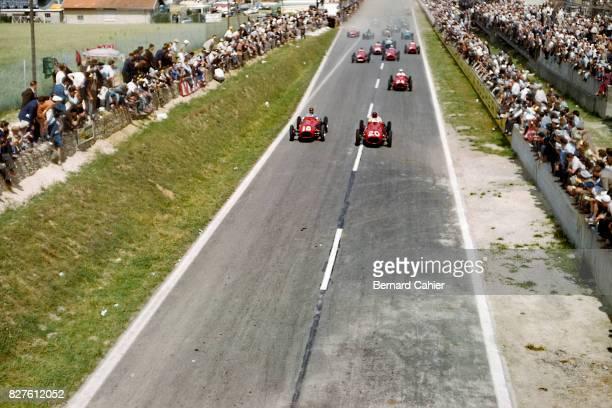 Juan Manuel Fangio, Froilan Gonzalez, Maserati A6GCM, Grand Prix of France, Reims, 05 July 1953.