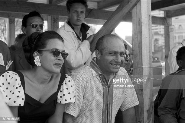 Juan Manuel Fangio, Grand Prix of Cuba, La Havana, 23 February 1958. A smiling Fangio after being released following his kidnapping by Fidel Castro...