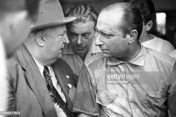 Juan Manuel Fangio, Grand Prix of Italy, Autodromo Nazionale Monza, 05 September 1954. Juan Manuel Fangio and Mercedes team manager Alfred Neubauer...