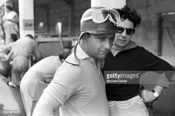 Juan Manuel Fangio, Grand Prix of Italy, Autodromo Nazionale Monza, 13 September 1953. Juan Manuel Fangio in the pits during prctice for the 1953...