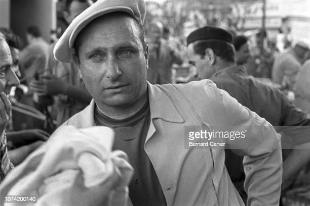 Juan Manuel Fangio, Grand Prix of Monaco, Circuit de Monaco, 13 May 1956. Juan Manuel Fangio during practice for the 1956 Monaco Grand Prix.