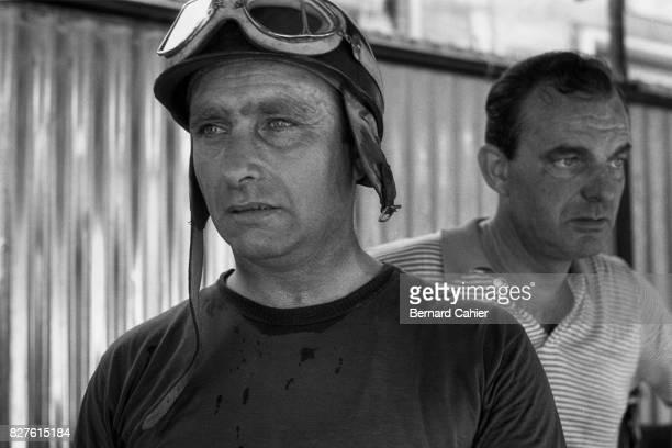 Juan Manuel Fangio, Harry Schell, Grand Prix of Italy, Monza, 08 September 1957.