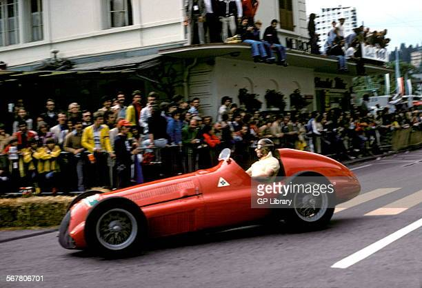 Juan Manuel Fangio in an Alfa Romeo 158 at Montreux Switzerland 1976