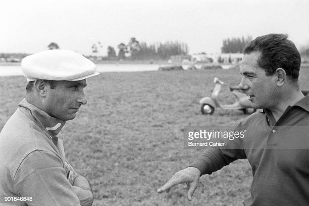 Juan Manuel Fangio Jean Behra 12 Hours of Sebring Sebring 23 March 1957 Future winners of the 1957 12 Hours of Sebring Juan Manuel Fangio with...