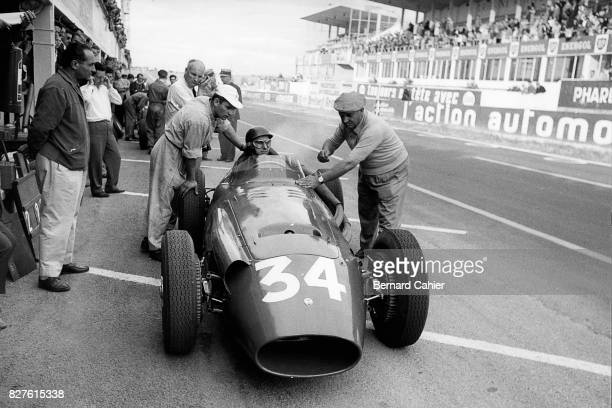 Juan Manuel Fangio, Maserati 250F, Grand Prix of France, Reims, 06 July 1958.